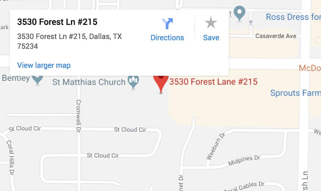 Google Maps - Crestline Auto Transport in Dallas, TX