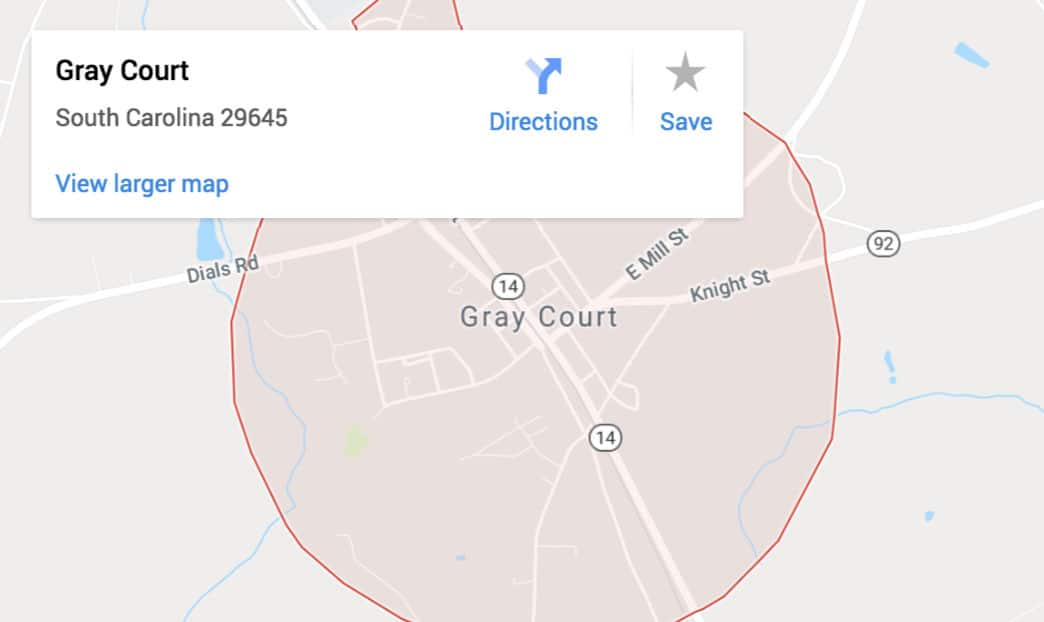 Google Maps - Crestline Auto Transport in Gray Court, SC